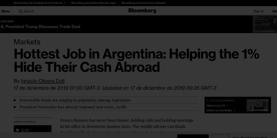 Article for Bloomberg
